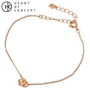 HEART OF CONCEPT ハートオブコンセプト シルバー ブレスレット レディース キュービック ピンクゴールド|baby-sies