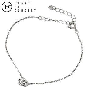 HEART OF CONCEPT ハートオブコンセプト シルバー ブレスレット レディース キュービック ホワイト|baby-sies