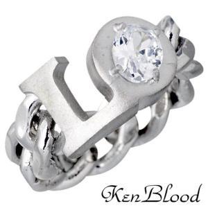 KEN BLOOD ケンブラッド LO文字チェーン シルバー リング 指輪 baby-sies
