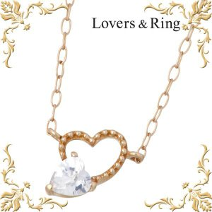 Lovers & Ring ラバーズリング K10 ピンクゴールド ネックレス ハート|baby-sies