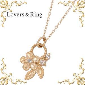 Lovers & Ring ラバーズリング [AKB48大島優子さん贈呈モデル] K10 ピンクゴールド ダイヤモンド ネックレス フラワー|baby-sies