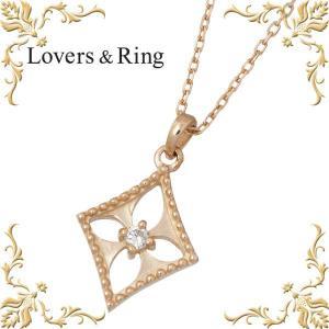 Lovers & Ring ラバーズリング K10 ピンクゴールド ダイヤモンド ネックレス ダイヤ|baby-sies