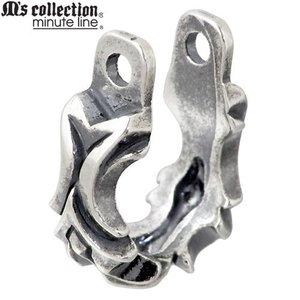 M's collection エムズコレクション-ミニッツライン フープ型 シルバー ピアスパーツ