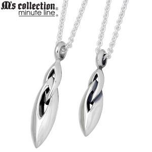 M's collection エムズコレクション-ミニッツライン シルバー ペア ネックレス|baby-sies