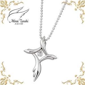 未来天使 Mirai Tenshi 祈りの翼 シルバー ネックレス キュービック レディース クロス 十字架 baby-sies