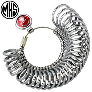 MKS 明工舎 メイコー リング 指輪ゲージ 1〜30号 全国標準規格 指のサイズを測る