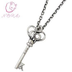 NORA ノラ X key シルバー ペンダント レディース コラボ キー ハート ト音記号|baby-sies