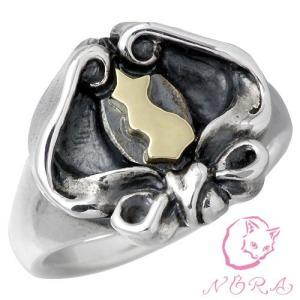 NORA ノラ シルバー リング 指輪 レディース アキュレイションネコ K10|baby-sies