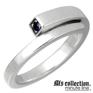 M's collection エムズコレクション-ミニッツライン サファイア シルバー リング レディース 指輪|baby-sies