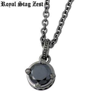Royal Stag Zest ロイヤルスタッグゼスト シルバー ネックレス ブラックキュービック 一粒石|baby-sies