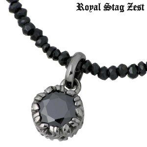 Royal Stag Zest ロイヤルスタッグゼスト シルバー ネックレス ブラックキュービック ブラックスピネル アラベスク|baby-sies