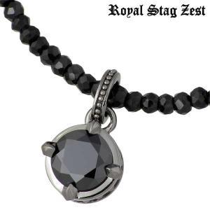 Royal Stag Zest ロイヤルスタッグゼスト シルバー ネックレス ブラックキュービック ブラックスピネル|baby-sies