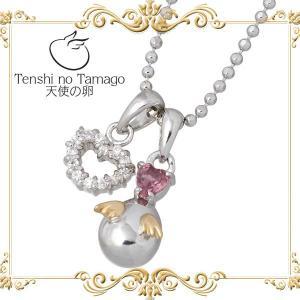天使の卵 Tenshi no Tamago 〜祝福の愛〜 ピンクトルマリン シルバー ネックレス ハート baby-sies
