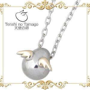 天使の卵 Tenshi no Tamago K10 ホワイト & ピンクゴールド ネックレス baby-sies