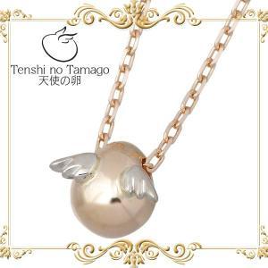天使の卵 Tenshi no Tamago K10 ピンク & ホワイトゴールド ネックレス baby-sies