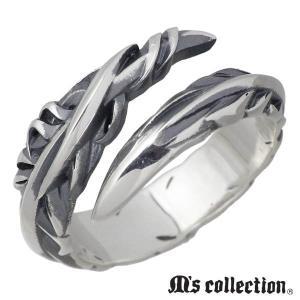 M's collection エムズ コレクション シルバー リング 指輪 メンズ フェザー スモー...
