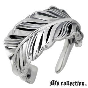 M's collection エムズ コレクション シルバー リング 指輪 メンズ フェザー ラージ...
