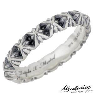 M's collection エムズ コレクション スタッズ ナロー シルバー リング 指輪 レディ...