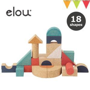 elou(エロウ) シェイプス 18P | 知育玩具 コルク製おもちゃ つみき|baby-smile
