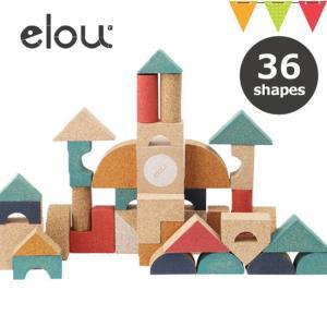 elou(エロウ) シェイプス 36P | 知育玩具 コルク製おもちゃ つみき|baby-smile