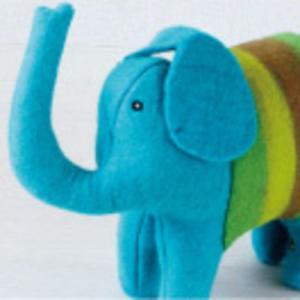 En Gry & Sif ぬいぐるみ Elephant(ターコイズ)【送料無料】 baby-smile