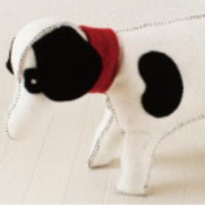 En Gry & Sif ぬいぐるみ Dog Black&White【送料無料】【代引手数料無料】 baby-smile