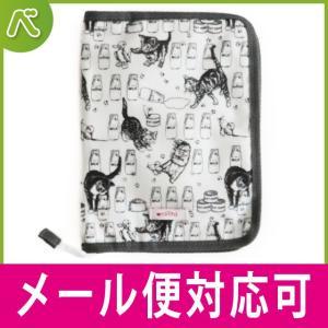 ninita(ニニータ) 母子手帳ケース 猫とミルク瓶柄|母子手帳ケース【ポイント10倍】|メール便対応可|baby-smile