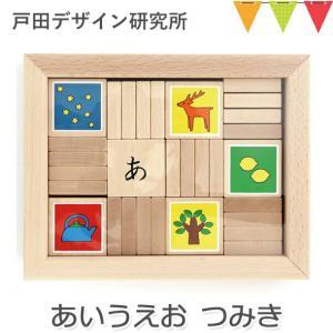 戸田デザイン研究室 あいうえおつみき |かな積み木  つみき 出産祝い 誕生日 プレゼント