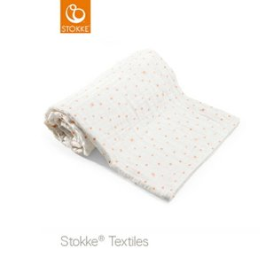 【ストッケ正規販売店】STOKKE ブランケット オーガニックモスリン コーラルビー 100%オーガニックコットン 通気性 保湿性 baby-smile