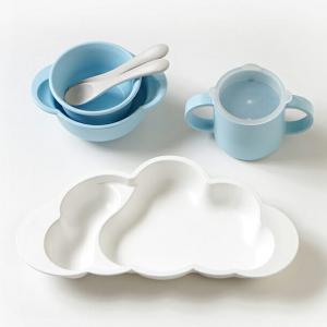 10mois mamamanma grande(マママンマ グランデ)セット ブルー/ピンク|お食事セット ベビー食器 離乳食 雲の形 出産祝い フィセル 日本製|baby-smile|03