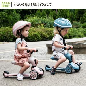 Scoot & Ride(スクートアンドライド) ハイウェイキック1 フォレスト アッシュ ローズ スチール|三輪車 キックスクーター あすつく|baby-smile|07
