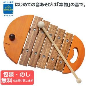 木製おもちゃ BorneLund ボーネルンド ベビーシロフォン オレンジ|baby-st