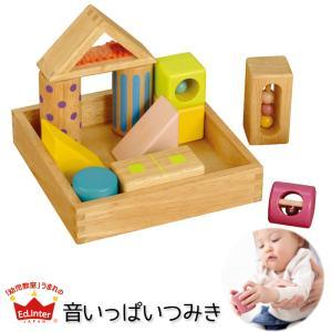エド・インター Ed.Inter  音いっぱいつみき 日本製 知育玩具 木製玩具 木のおもちゃ 積木 積み木 誕生日 出産祝い 国産 カエデ|babyalice