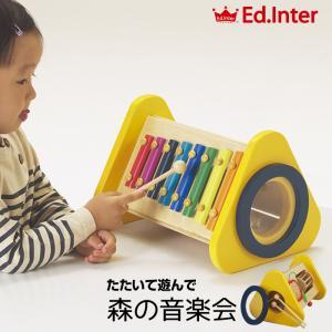 エド・インター Ed.Inter 森の音楽会 知育玩具 木製玩具 木のおもちゃ 鉄琴 歯車 誕生日 出産祝い  ベビー キッズ プレゼント ギフト|babyalice