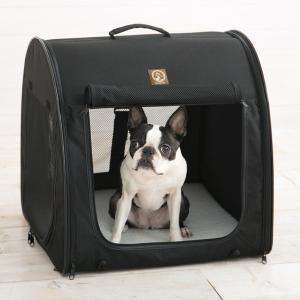 ワン・フォー・ペッツ ポータブル・ケージ シングル  オールブラック One for Pets 犬 猫 ペットキャリーバッグ 車にも|babyalice