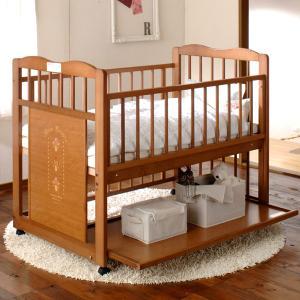 キンタロー ベビーベッド 「パルテール ミドルサークル エコ」ベッドからベビーサークルに組み換え可能|babybed
