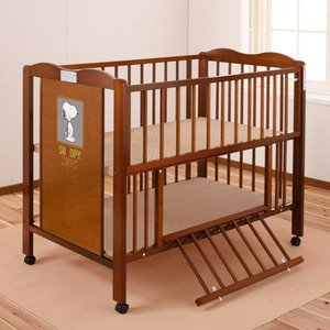 キンタロー ハイタイプ ベビーベッド ベビーベット 「ハイ スヌーピー」お世話がしやすいハイタイプベッド 通販限定|babybed