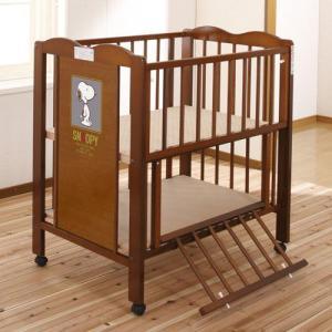 [セール]キンタロー ハイタイプ ベビーベッド ミニベッド 「ミニ ハイ スヌーピー 布団付」ハイタイプベッドベとふとんセット|babybed