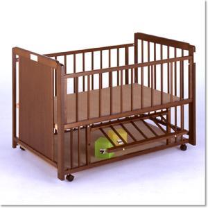 [セール]キンタロー ベビーベッド 「ブラウン 棚付 エコ」 通販限定商品|babybed