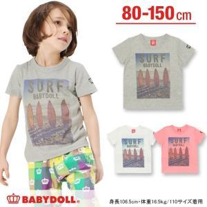 50%OFF SALE ベビードール BABYDOLL 子供服 親子ペア SURFTシャツ 春 夏 ベビーサイズ キッズ-8988K(150cmあり)|babydoll-y