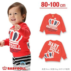 BIG王冠トレーナー SALE-ベビー キッズ 子供服 ベビードール BABYDOLL-9475K babydoll-y