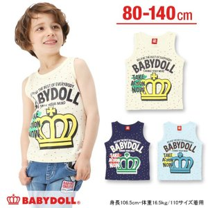 50%OFF SALE ベビードール BABYDOLL 子供服 ネップ風 タンクトップ 春 夏 男の子 女の子 ベビーサイズ キッズ-9512K|babydoll-y
