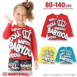 ランダムロゴロンT SALE-ベビー キッズ 子供服 ベビードール BABYDOLL-9702K babydoll-y