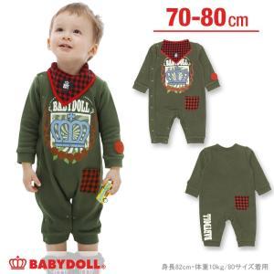 【☆】50%OFF SALE ベビードール BABYDOLL 子供服 チェックポケット ロンパース ベビーサイズ-0070B|babydoll-y