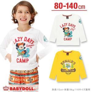 【☆】50%OFF SALE ベビードール BABYDOLL 子供服 親子ペア ディズニー キャラクターキャンプ ロンT ベビーサイズ キッズ  DISNEY-0228K babydoll-y