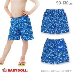 50%OFF SALE ベビードール BABYDOLL 子供服 総柄サーフトランクス ボーイズ水着 夏 男の子 キッズ スイムグッズ プール 水遊び-0371K babydoll-y