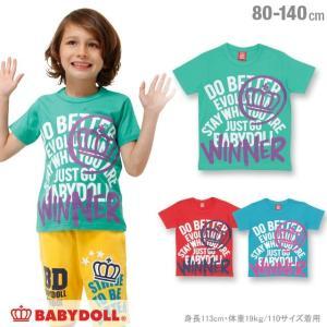 50%OFF SALE ベビードール BABYDOLL 子供服 親子ペア WINNER Tシャツ 男の子 女の子 ベビーサイズ キッズ-0537K|babydoll-y