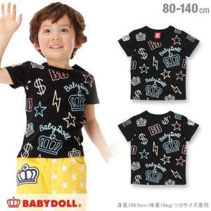 50%OFF SALE ベビードール BABYDOLL 子供服 ネオン総柄Tシャツ 男の子 女の子 ベビーサイズ キッズ-0575K|babydoll-y