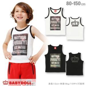 50%OFF SALE ベビードール BABYDOLL 子供服 宇宙柄メッセージ タンクトップ 男の子 女の子 ベビーサイズ キッズ ジュニア-0792K|babydoll-y