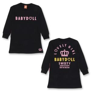 50%OFF SALE ベビードール BABYDOLL 子供服 スウェット ワンピース 0824K ベビーサイズ キッズ 女の子|babydoll-y